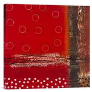Global Gallery Red Dot 2 by Natasha Barnes Graphic Art on Wrapped Canvas