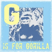 Graffitee Studios Animal Alphabet G is for Gorilla Graphic Art on Wrapped Canvas