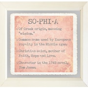 Graffitee Studios Baby Name Girls Sophia Framed Textual Art