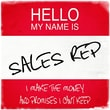 Graffitee Studios Hello My Name Is Sales Rep Textual Art on Wrapped Canvas