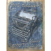 PENL Old-School Biz Good Manners Graphic Art on Wrapped Canvas