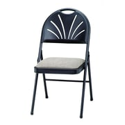 SuddenComfort Samsonite Steel & Fabric High Back Folding Chair, Black Lace