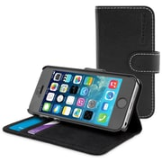 The Snugg Flip Case Cover for iPhone 5, Black