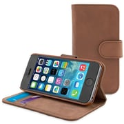 The Snugg Flip Case for iPhone 6 Plus, Distressed Brown