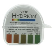 Micro Essential Lab Hydrion Quaternary Test Paper, 0-400ppm, 10/Case (MES QT-10 CS)