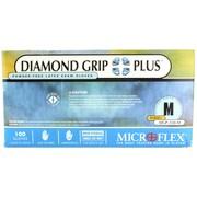 Micro flex Diamond Grip Plus Latex Gloves, Medium, 100/Pack