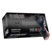 Micro flex MidKnight Nitrile Gloves, Large, Black, 100/Pack