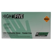 High Five Products Inc E-grip Latex Gloves, Small, 100/Pack