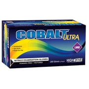 High Five Products Inc Ultra Nitrile Gloves, Large, Cobalt, 200/Pack