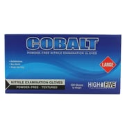 High Five Products Inc Nitrile Gloves, Cobalt, Large, 1000/Case