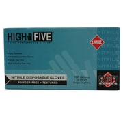 High Five Products Inc Nitrile Gloves, Large, Blue, 100/Pack