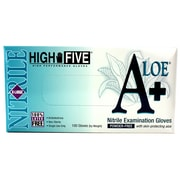High Five Products Inc A+ Aloe Nitrile Gloves, XL, Green, 10/Pack