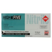 High Five Products Inc Nitrile Gloves, Blue, Large, 500/Case