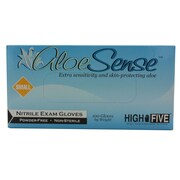 High Five Products Inc Aloe Nitrile Gloves, Small, 100/Pack