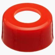National Scientific Inc. Polypropylene Screw Cap, Red, 10-425mm, 1000/Case