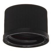 National Scientific Inc. Polypropylene Screw Thread Cap, White Silicone Septum, 100/Pack