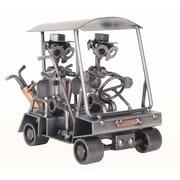 H & K SCULPTURES Golf Driving Wine Bottle Holder