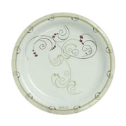 Solo Cups 8 1/2'' Clay-Coated Round Paper Plates Symphony Design