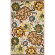 Safavieh Four Seasons Ivory/Brown Outdoor Area Rug; 5' x 8'