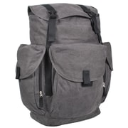 Everest Cotton Canvas Backpack; Charcoal