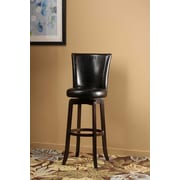 Hillsdale Copenhagen 25.75'' Swivel Bar Stool with Cushion; Black