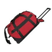 Preferred Nation 23'' 2-Wheeled Travel Duffel; Red