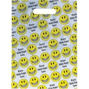 Small Scatter-Print Supply Bags, Smiley Face with Braces