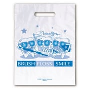 Dental Non-Personalized Small 1-Color Supply Bags, Tooth Guy Brush Floss Smile