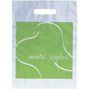 Dental Non-Personalized Large 1-Color Supply Bags, Green Tooth