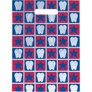Small Scatter-Print Supply Bags, Tooth/Stars