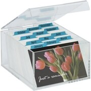 Acrylic Recall Postcard Box