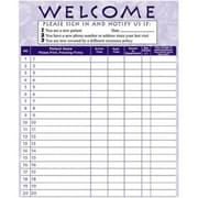 Medical Arts Press Privacy Sign-In Sheet Purple
