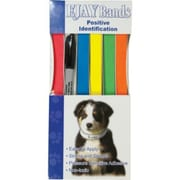 EJAY Animal I.D. Bands, Assorted Colors, 10""