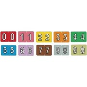MAP Barkley & Sycom Compatible Numeric Roll Labels, 10 Numeric Rolls (0-9), 500/Roll