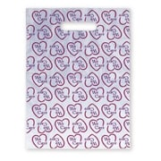 Small Scatter-Print Supply Bags, Heart -- We Care