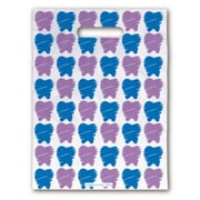 Large Scatter-Print Supply Bags, Purple/Blue Teeth