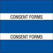 : Medical Arts Press® Large Chart Divider Tabs; Consent Forms, Dk. Blue
