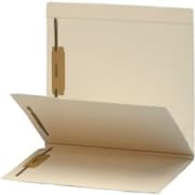 MAP Brand Top-Tab Folders with Dividers and Fasteners, 1 Divider, 2 inch Expansion, 25/Box