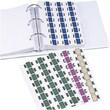 Medical Arts Press Jeter Compatible Alpha Label Starter Kits, Alpha Labels on 3-Ring Binder Sheets