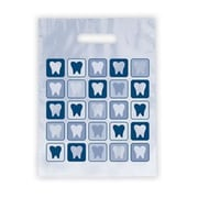 Dental Non-Personalized Small 1-Color Supply Bags, Tooth Quilt