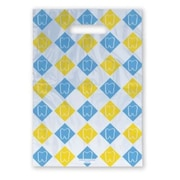 Large Scatter-Print Supply Bags, Tooth Checkerboard