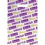 Large Scatter-Print Supply Bags, Brush/Floss/Smile