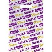 Large Scatter-Print Supply Bags, Brush/Floss/Smile