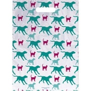 Jumbo Scatter-Print Supply Bags, Red Cats and Teal Dogs