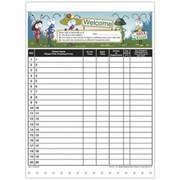Medical Arts Press Designer Privacy Sign-In Sheets, Silly Antics