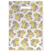 Large Scatter-Print Supply Bags, Yellow and Brown Dog and Cat