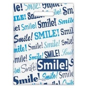 Small Scatter-Print Supply Bags, Blue Smile