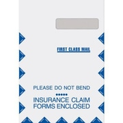 MAP Brand Non-Imprinted Jumbo 9 W x 13 H inch Claim Window Envelopes, Grip-seal, Right Window, 100/Box