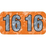 MAP Brand Holographic End-Tab Year Labels, 2016, Orange