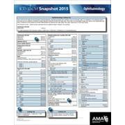 AMA ICD-10 Snapshot 2015 Coding Cards, Opthamology
